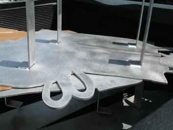 Detail of welded brackets