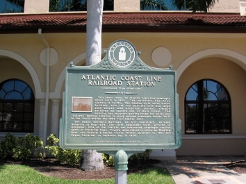 Historical marker on the site